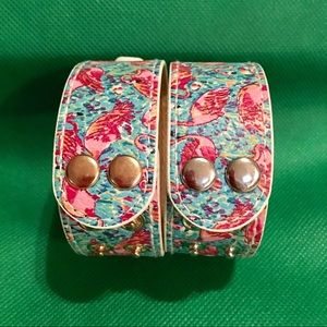Lilly Pulitzer  Snap Bracelets -Flamingo